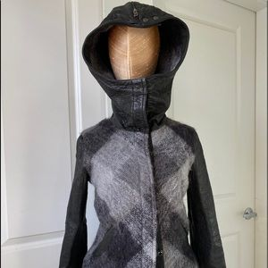 OBAKKI leather biker jacket